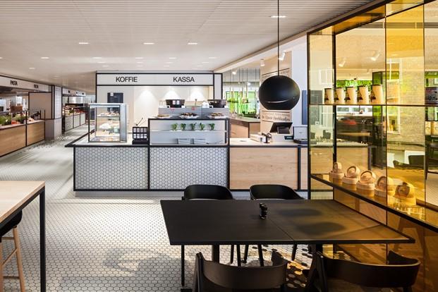 barras del restaurante the kitchen diseno en verde en los almacenes Bijenkorf diariodesign