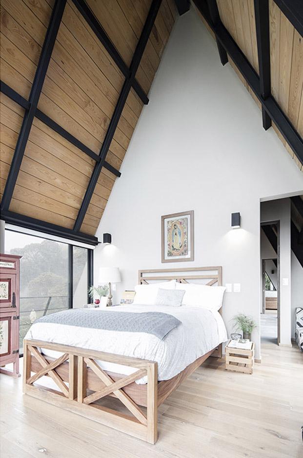 dormitorio de una original casa en mexico de studio Metodo diariodesign