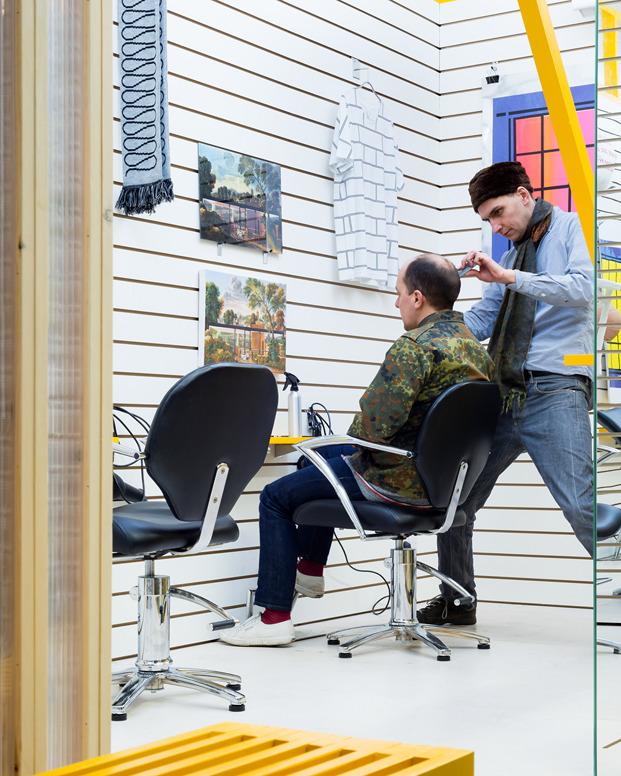 barbería perluquería y galería de arte en Londre DKUK