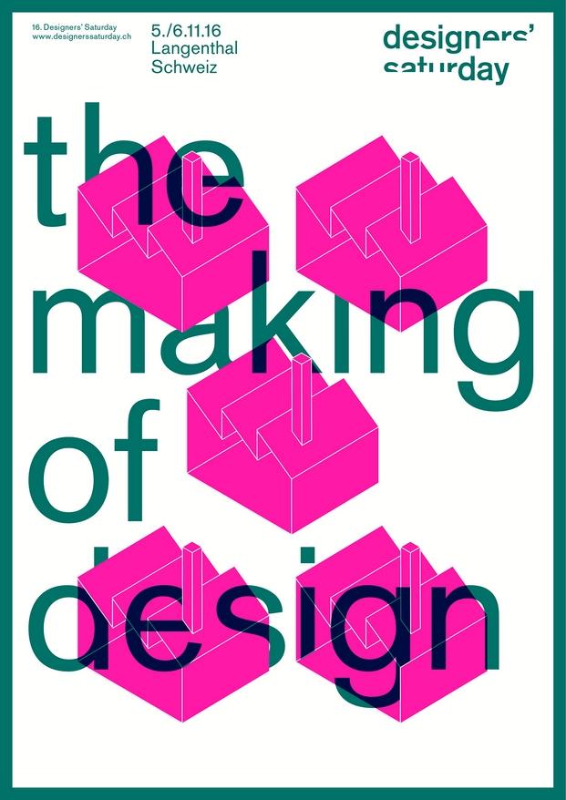 Cartel de Designers Saturday 2016 muebles de oficina usm