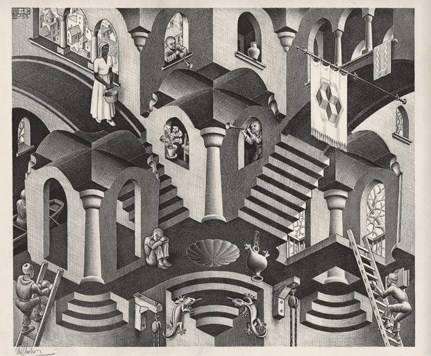 Convexo y cóncavo, 1955