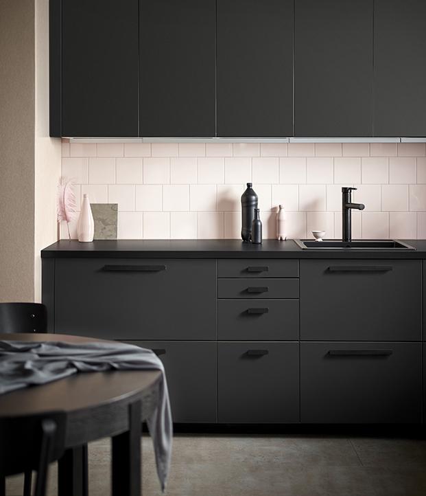 cocina negro reciclaje form us with love ikea diariodesign