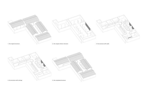 plano Tea House in Hutong pekin Arch Studio diariodesign