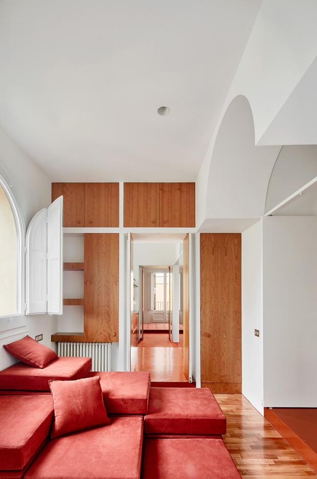 imagen estructura casa reformada en barcelona por arquitectura g