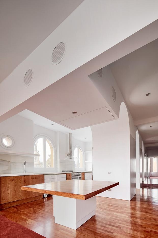 cocina de piso en barcelona de arquitectura g diariodesign