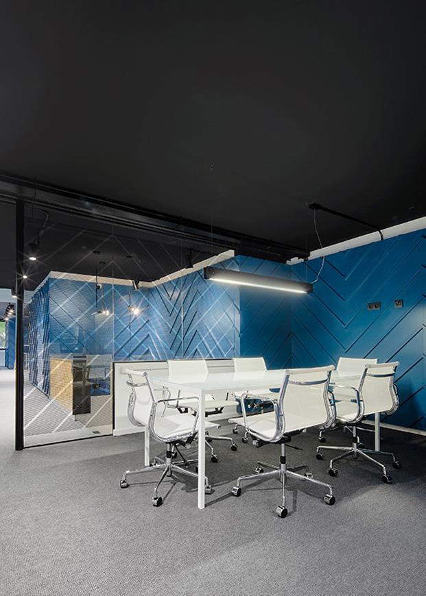 Oficinas nexolub en barcelona en azul diariodesign