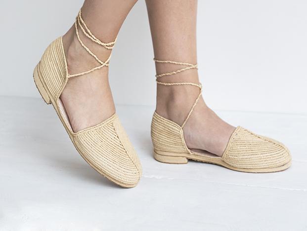 sandalias de verano originales de rafia en diariodesign