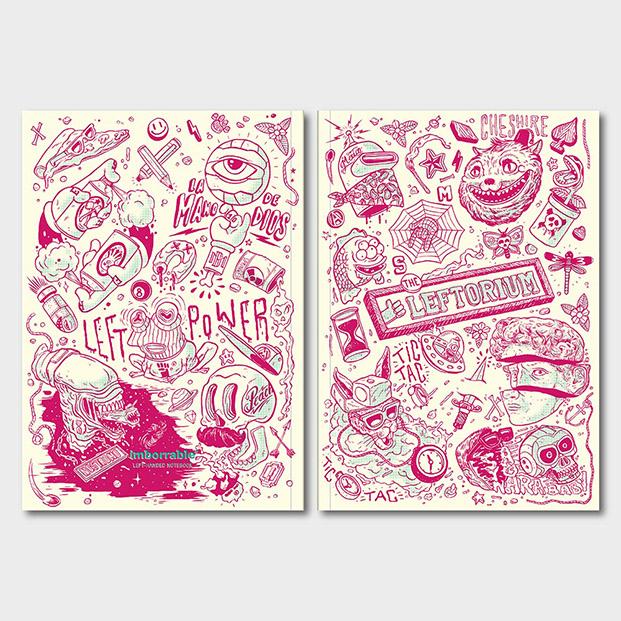 libretas para zurdos en diario design de imborrable