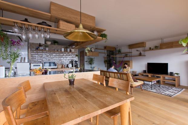 cocina abierta de apartamento en japon diariodesign