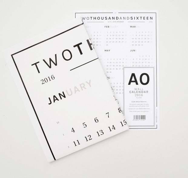 octagon wall calendar AO diariodesign