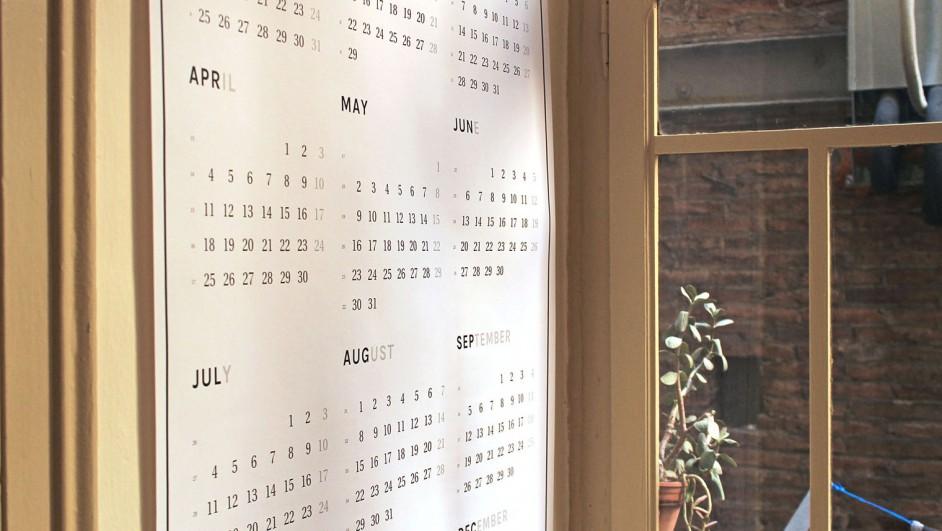 calendario octagon en diariodesign