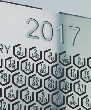calendario poligon de metal en las tendencias del ano diariodesign