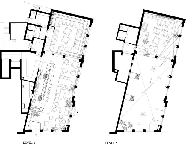 plano Bar botanique un vergel de Studio Modijefsky en amsterdam diariodesign