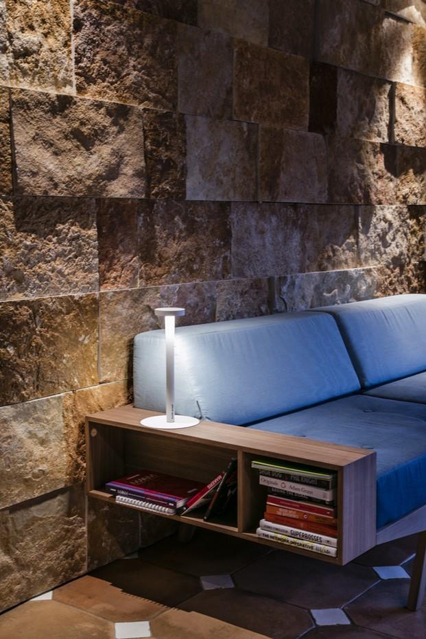 detalle iluminacion en Casa toscana diariodesign