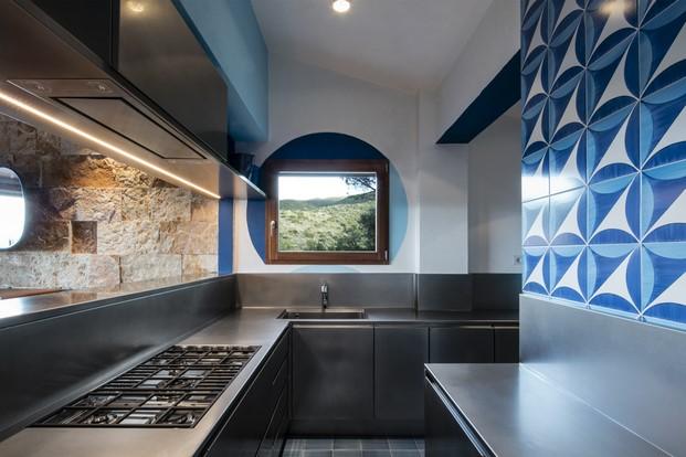 cocina de Casa fra cielo e mare toscana diariodesign