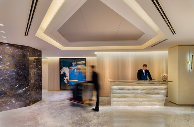 The One Hotel coserjería interiorismo por Jaime Beriestain