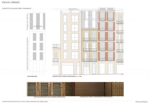 plano urbano la casa por el tejdo barcelona fachada