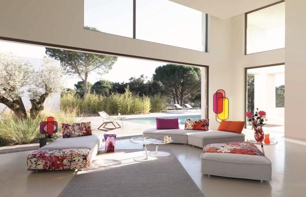 sofa ESCAPADE con tela Missoni novedad roche bobois 2017 diariodesign