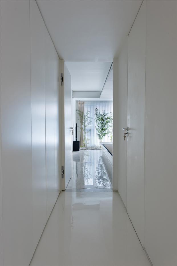 pasillo casa de madera en Pekin de archstudio diariodesign