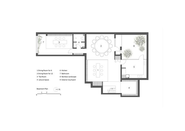 Sótano plano casa de madera en Pekin de archstudio diariodesign