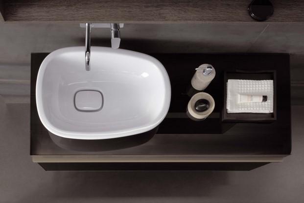 Detalle lavamanos banos Geberit Citterio