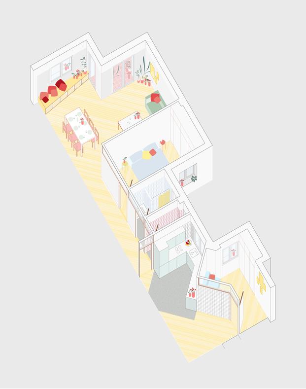 plano reforma en madrid por PYO arquitectos diariodesign