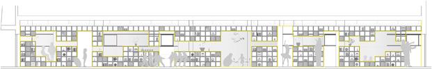 Alzado interior nueva escuela english for Fun en Madrid diariodesign