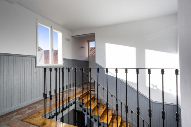 casa decor 2017 detalle del interior del edificio de 1900 en el barrio de los jeronimos
