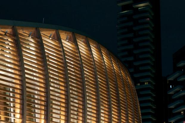 Edificio Unicredit Milano erco iluminacion