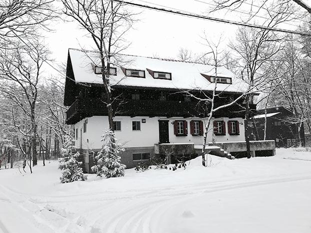 finnjuhl-Hotel outside Hakuba white Japan