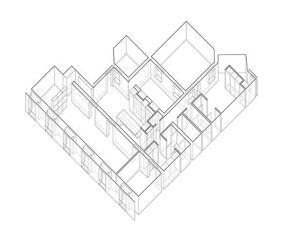 plano de casa con obras de arte diariodesign