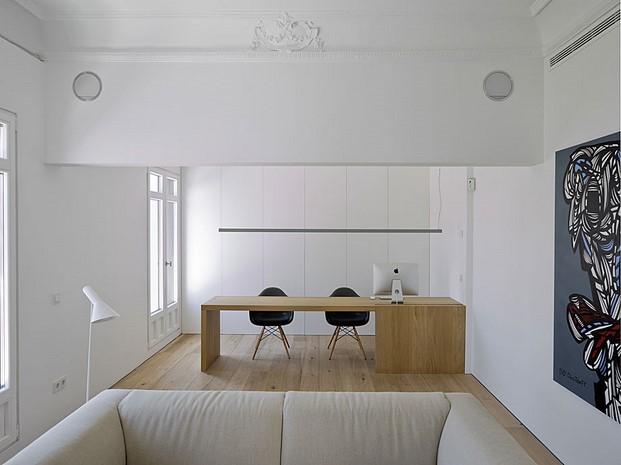 mobles114 y vibia en apartamento madrid diariodesign