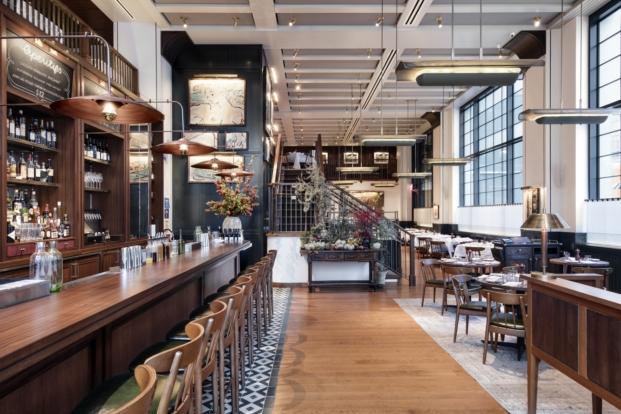 interior restaurante en Manhattan union square cafe new york del arquitectodavid rockwell