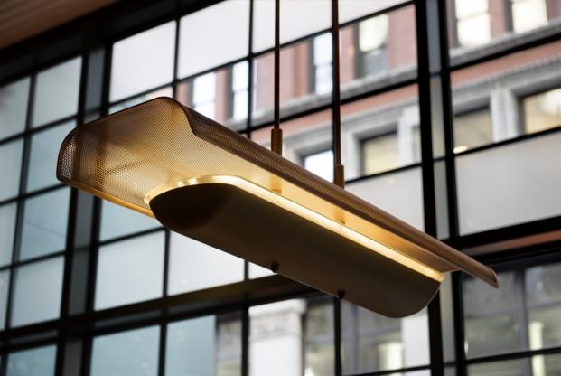 luminarias colgantes del union square cafe en new york