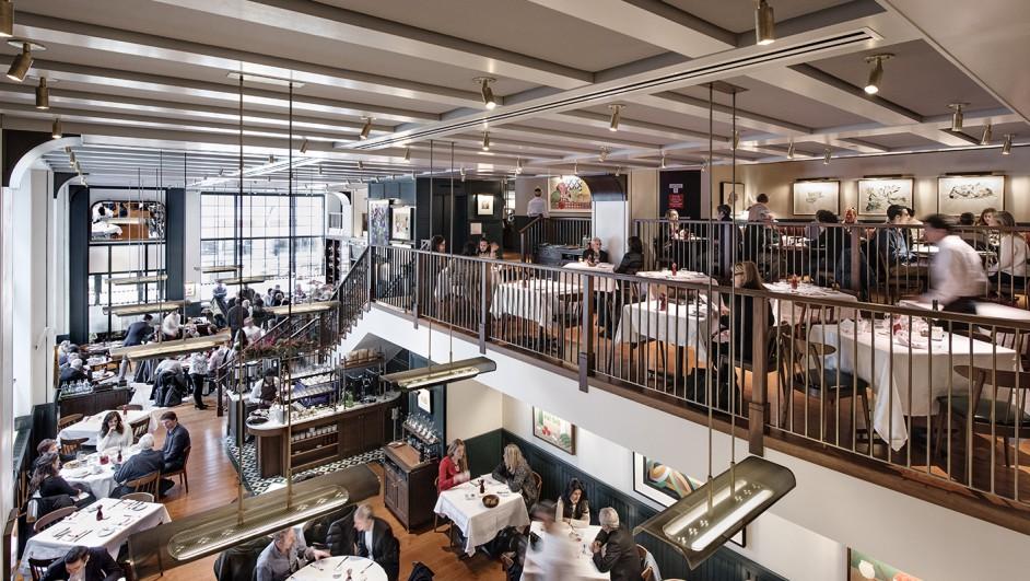 Restaurante en manhattan union square cafe en new york por david rockwell