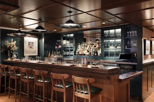 barra del union square cafe new york restaurante en Manhattan por david rockwell