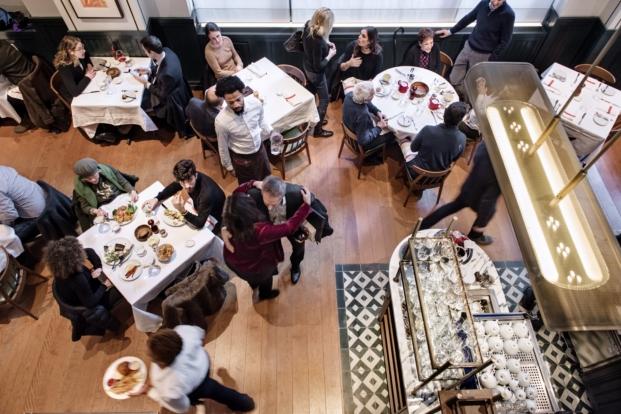 imagen aerea del union square cafe restaurante en manhattan