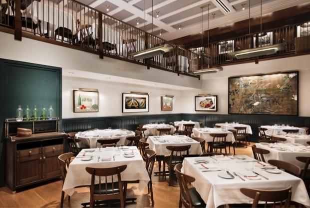 obras de arte en el union square cafe en nueva york de Robert Kushner y Judy Rifka