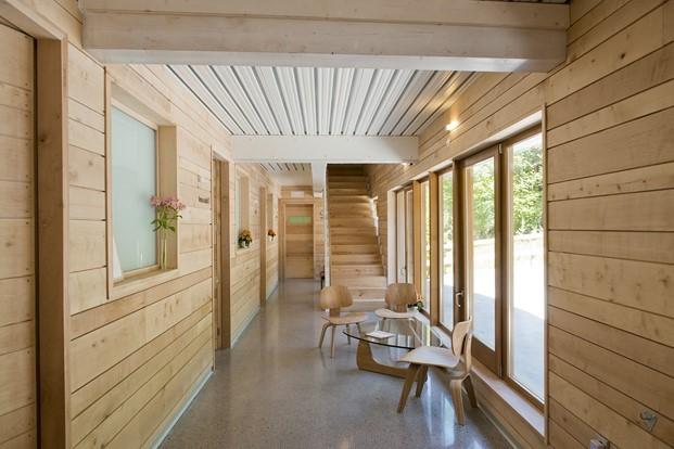 estilo nordico en ecohotel en elParque Natural de Redes