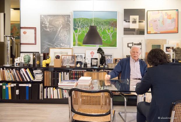 entrevista de André Ricard en su estudio de Barcelona