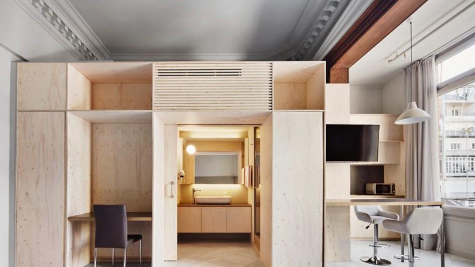 aparthotel ausias march de Tomas Lopez Amat y Gorka Marcuerquiaga en barcelona diariodesign