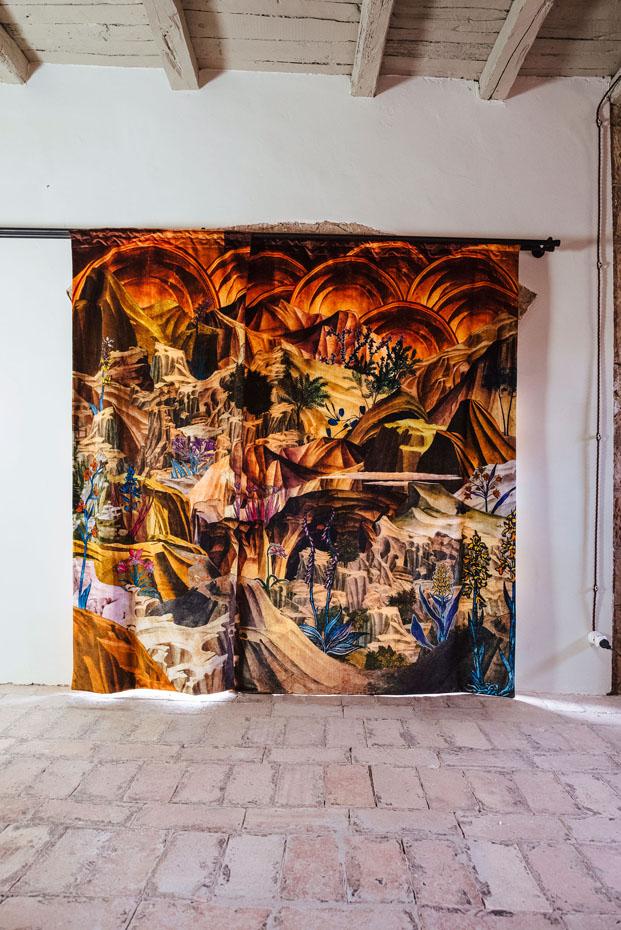 Airbnb instalacion de Francesco Simeti en Casa del Artista en Civita di Bagnoregio Italia diariodesign