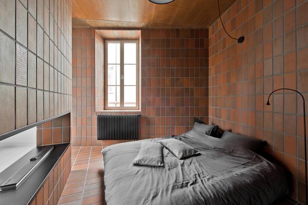dormitorio de apartamento pequeño en lituania Bazillion Apartment