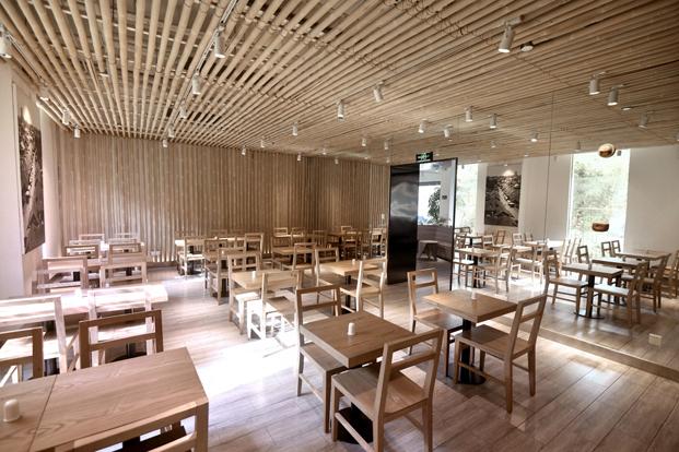 City Inn hotel Chu Chih Kang en China bambu en el restaurante diariodesign