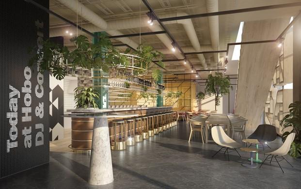 interior Hotel Hobo Werner Aisslinger en Estocolmo