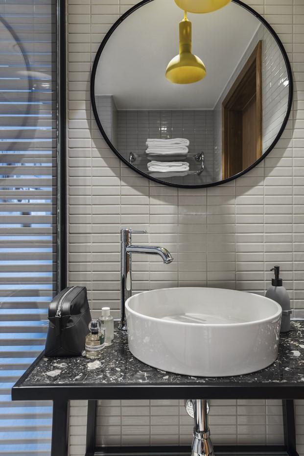 detalle baño del Hotel Hobo en Estocolmo