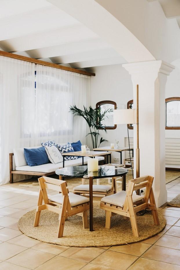 Hotel Nereta Cadaques sala estilo mediterraneo diariodesign