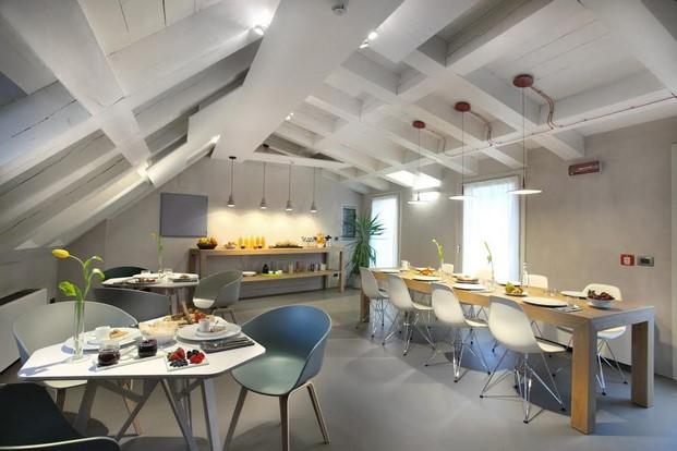 sala de desayunos del Hotel Palazzo Grillo en Genova diariodesign