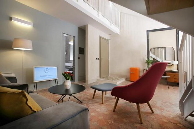 interior habitacion del Hotel Palazzo Grillo en Genova diariodesign