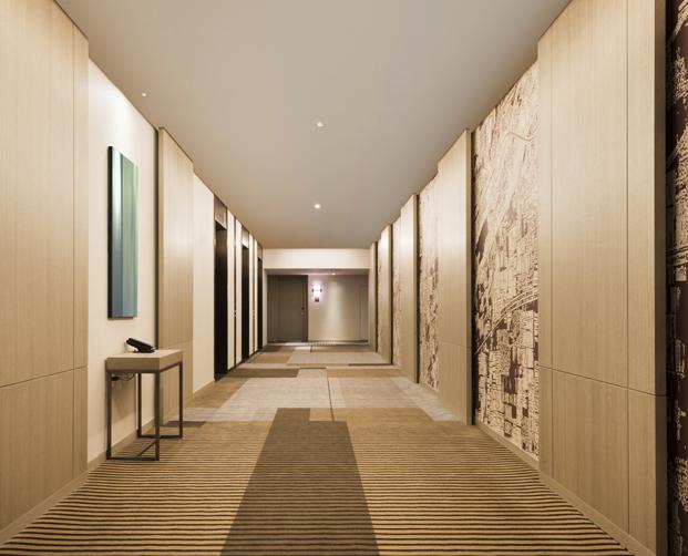 pasillo Hyatt Place Hotel la china moderna BLVD diariodesign